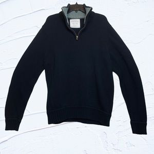 Aeropostale Sweater Quarter Zip Black Cotton XXL